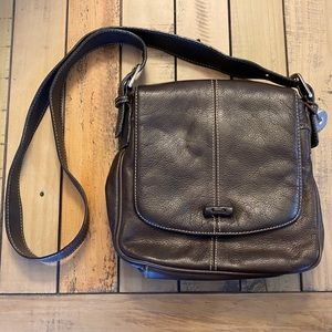The Sak Brown Leather Crossbody Bag Purse